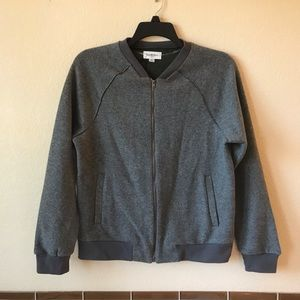 Mens NEW Standard Fit Bomber Sweater Jacket